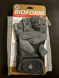 Harbinger Bioform Wristwrap Gloves With Carrying Bag Size Medium