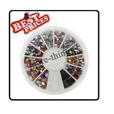 Mix di figura arte del chiodo capovolge Rhinestones di scintillio Wheel