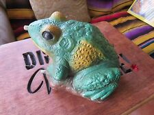 1992 Hand Painted Massarelli's Frog Decorative Pond Spitter
