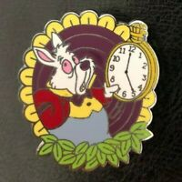 🐰 The White Rabbit with a Pocket Watch Alice in Wonderland Disney Booster Pin
