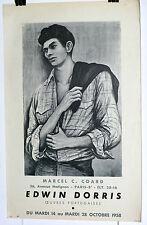Edwin Dorris 1958 Affiche expo