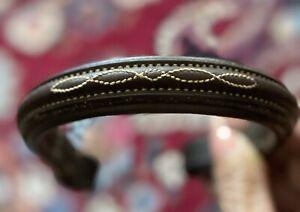 Edgewood Fancy Raised & Stitched Padded Brow Band & Noseband- Pony Sized, Lovely