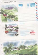 GB Stamps Aerogram / Air Letter APS77 - 1st NVI Rivers Issue, Bridge, rocks 1989