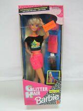 "Mattel Barbie 1993 ""GLITTER HAIR"" Caucasian Blonde #10965 Made in Malaysia NRFB"