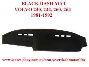 DASH MAT, BLACK DASH MAT FIT  VOLVO 240, 244, 260, 264 1981-1992, BLACK