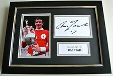 Ron Yeats SIGNED A4 FRAMED Photo Autograph Display Liverpool Football & COA