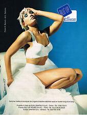 PUBLICITE ADVERTISING 025  1996  DUAL BLU  soutien gorge sous vetements BLU'UP