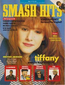 SMASH HITS MAGAZINE -  TIFFANY, GEORGE MICHAEL, DANNY WILSON  - MAY 88