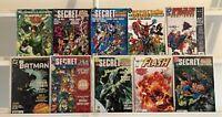 Batman Flash Secret Files DC 10 Comic Book Lot Comics Collection Set Run Box