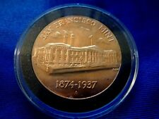 "U. S. Mint Bronze Medal ~ Historic Buildings Series Old San Francisco Mint ""S"""