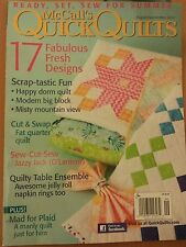 McCall's Quick Quilts 17 Fresh Designs Plaid August Sept 2014 FREE SHIPPING