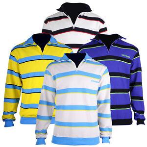 Boys Kids Junior Zip Neck Jumper 100% Cotton Stripe Sweater Designer Quality