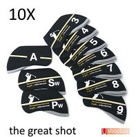 10 x Golf Iron Club Covers Great Shot Callaway Titleist Taylormade Ping bag