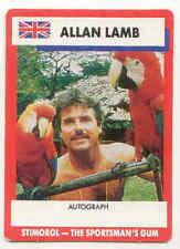 Allan Lamb England Cricket Trading Cards