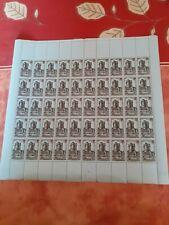 n ° 491 en feuille entière de 50 timbres ** coté 115 euros