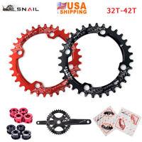 104bcd 32/34/36/38/40/42T XC MTB Bike Chainring Narrow Wide Crankset Chainwheels