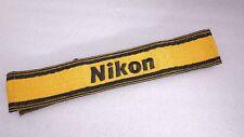 Nikon Vintage Neck Strap Genuine 122cm x 4.8cm x 1.0cm Yellow DSLR SLR film