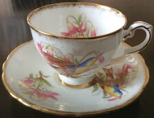 ROYAL STAFFORD BIRD SERIES CUP SAUCER WARMLEM SIGNED ENGLAND