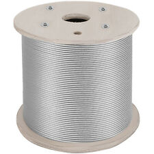 """T316 1x19 Stainless Steel Cable 1/8"""" Cable Rail Wire Rope Aircraft Cable 1000Ft"""