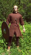 Medieval Gothic Brown Fantasy Short Sleeves Gambeson Jacket Armor Viking