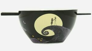 The Nightmare Before Christmas Spiral Hill Ramen Bowl With Chopsticks