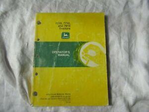John Deere 7610 7710 7810 10  series tractor operator's manual