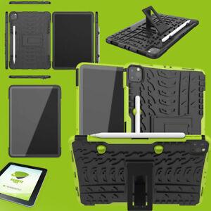 Für Apple iPad Pro 11.0 2021 Hybrid Grün Hülle Tablet Tasche + H9 Glas