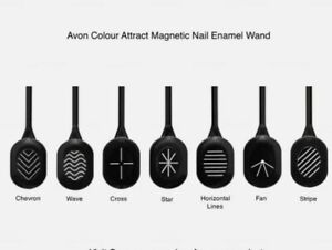 AVON COLOUR ATTRACT MAGNETIC WAND ~ lines FOR USE WITH NAIL ENAMEL ~ NEW