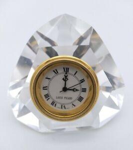Louis Picard Miniature Cut Glass Crystal Clock Ornament - Untested