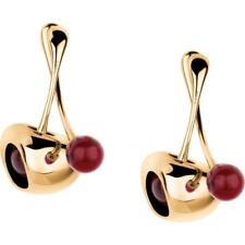 Orecchini Donna BREIL RED TJ1863 Acciaio Inossidabile Gold Dorato Ciliegia NEW