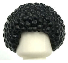 LEGO NEW BLACK AFRO MINIFIGURE BUBBLE HAIR ROUND WIG BOY GIRL PIECE