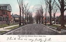 Antique POSTCARD c1907 High Street from Bellevue Avenue BRISTOL, CT 16600