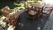 Heywood-Wakefield Reed & Rattan 7 pc Patio Furniture Set Mid-Century Modern