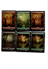 MRM FRENCH 3 foret 2 montagne 1 marais FULL ART FOIL MTG magic HOU/AKH
