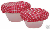 Kitchen Craft Set of Seven Elasticated Plastic Food Bowl Covers KCFOODBOWL