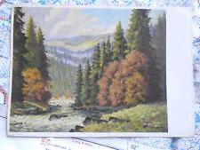 Okertal Wald Bach Fluss Landschaft Gemälde Kunst Postkarte Ansichtskarte 3407