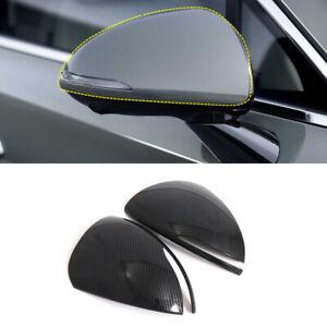 Carbon Fiber Look Rearview Side Mirror Cover 2pcs For HyundaiSonataDN82020