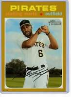 Starling Marte 2020 Topps Heritage 5x7 Gold #462 /10 Pirates