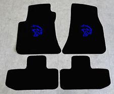 Autoteppich Fußmatten für Dodge Challenger Hellcat ab 2008 Velours blau 4tlg Neu
