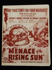 MENACE OF THE RISING SUN 1942 * WWII DOCUMENTARY SHORT *RARE UNIVERSAL PRESSBOOK