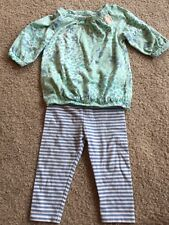Baby Girl spring Genuine Kids OshKosh Top Pants 2 Piece Outfit 12m