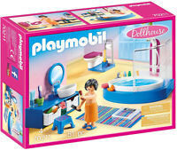 Playmobil Dollhouse Bathroom with Tub Playset 70211 (for Kids 4 and up)