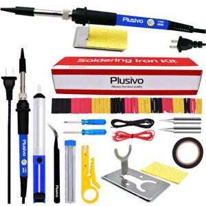 SOLDERING IRON KIT Desoldering Pump Welding Power Wire Stripper & accessories