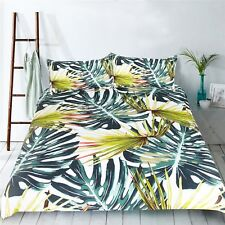 3D Leaf Plant 4 Bed Pillowcases Quilt Duvet Cover Set Single Queen King Au Carly