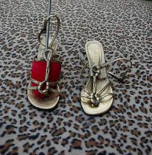 Ash Gold Leather Sandals UK 3 EU 36