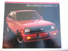 1983 Chevrolet Chevette showroom sales brochure GM original publication MINT!