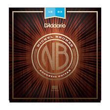 D'Addario NB1253 Nickel Bronze Acoustic Guitar Strings 12-53
