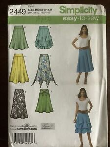New SIMPLICITY Misses Skirt Pattern 2449 Size 6-14