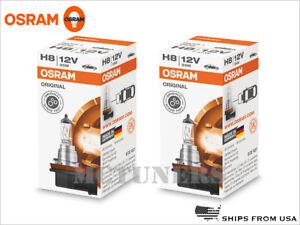 2x OSRAM Standard H8 OEM Halogen Headlight Bulbs 64212 Germany   Pack of 2