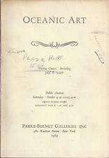 PARKE BERNET OCEANIC ART Jay Leff Collection Vietnam Auction Catalog 1969